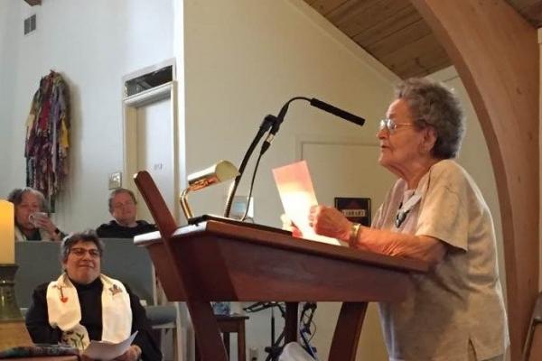 Betty Kollar reading poem 2017 landscape